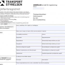 Nya enklare regler för registrering av en båt